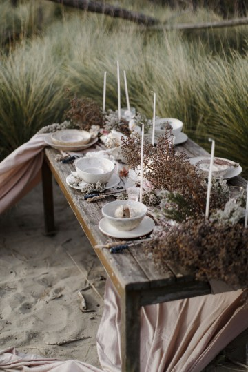 Driftwood & Seagrass, Seaside Boho Wedding Inspiration | Monica Leggio 16