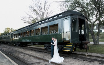 Industrial Chic Wedding With A Vintage Train Ride