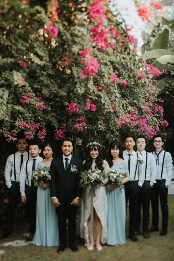 Modern & Hip Bali Wedding Featuring Sparklers & Flower Crowns | Iluminen Photography 42
