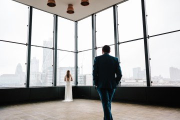 Underground Gallery Wedding In London With Cool, Flashy Signage   Studio 1208 Photography 13