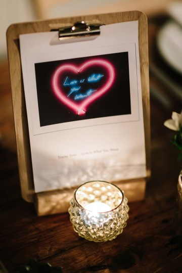 Underground Gallery Wedding In London With Cool, Flashy Signage   Studio 1208 Photography 34