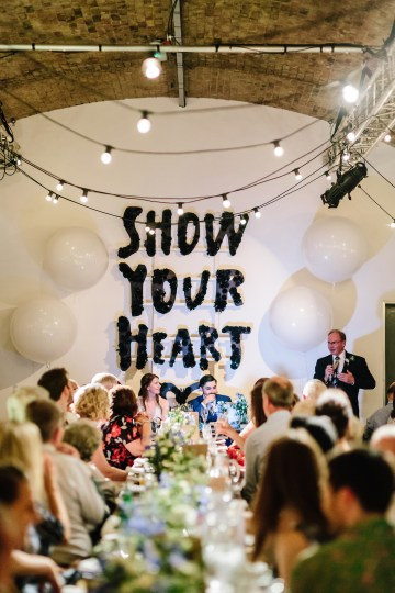 Underground Gallery Wedding In London With Cool, Flashy Signage   Studio 1208 Photography 39