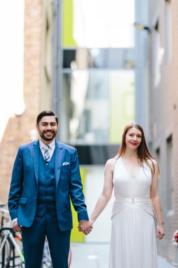 Underground Gallery Wedding In London With Cool, Flashy Signage   Studio 1208 Photography 54