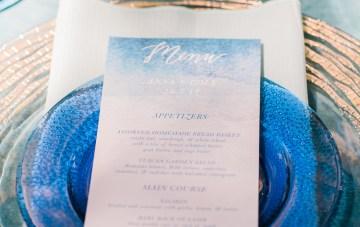 Vibrant Ocean Blue Watercolor Wedding Inspiration | Lola Event Productions | Artistrie Co. 12
