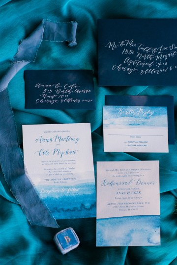 Vibrant Ocean Blue Watercolor Wedding Inspiration | Lola Event Productions | Artistrie Co. 18