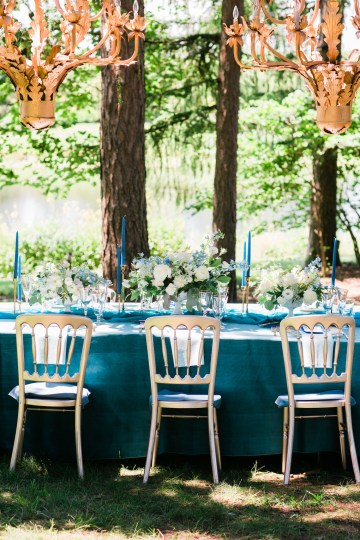 Vibrant Ocean Blue Watercolor Wedding Inspiration | Lola Event Productions | Artistrie Co. 19