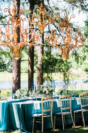 Vibrant Ocean Blue Watercolor Wedding Inspiration | Lola Event Productions | Artistrie Co. 21