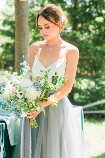 Vibrant Ocean Blue Watercolor Wedding Inspiration | Lola Event Productions | Artistrie Co. 42