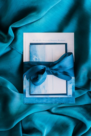 Vibrant Ocean Blue Watercolor Wedding Inspiration | Lola Event Productions | Artistrie Co. 45