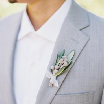 Vintage Lace; Pretty Wedding Ideas Featuring A Crepe Cake & Lamb's Ear Bouquet   Nathalie Cheng 11