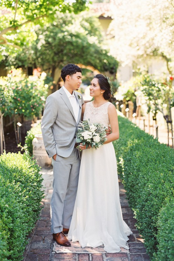 Vintage Lace; Pretty Wedding Ideas Featuring A Crepe Cake & Lamb's Ear Bouquet   Nathalie Cheng 12