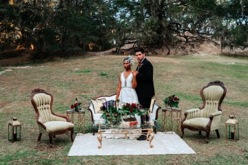 Woodsy Jewel-Toned Wedding Ideas (With A Circle Arch!) | Grind & Press Photography 10