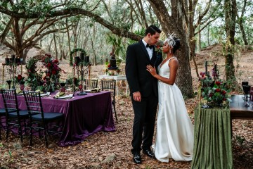 Woodsy Jewel-Toned Wedding Ideas (With A Circle Arch!) | Grind & Press Photography 6