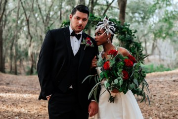 Woodsy Jewel-Toned Wedding Ideas (With A Circle Arch!) | Grind & Press Photography 8