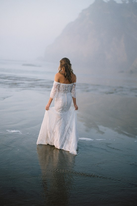 Allure Bridal's Dreamy Boho Wilderly Bride Wedding Dress Collection (And Giveaway!) | Brumwell Wells Photography | Stella 1