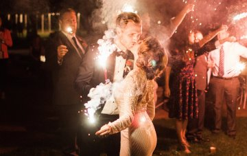 Colorful Vermont Lodge Wedding (With Sparkler Magic!)