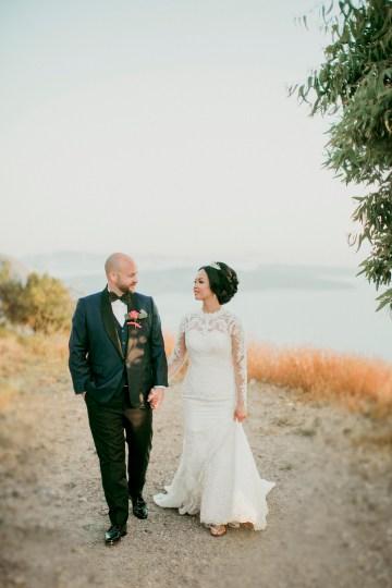 Intimate & Luxurious Cliffside Santorini Wedding   Stella and Moscha   Nikos Gogas 17