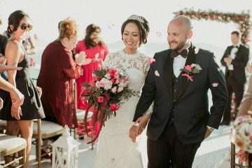 Intimate & Luxurious Cliffside Santorini Wedding   Stella and Moscha   Nikos Gogas 44