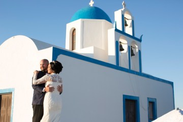 Intimate & Luxurious Cliffside Santorini Wedding   Stella and Moscha   Nikos Gogas 49