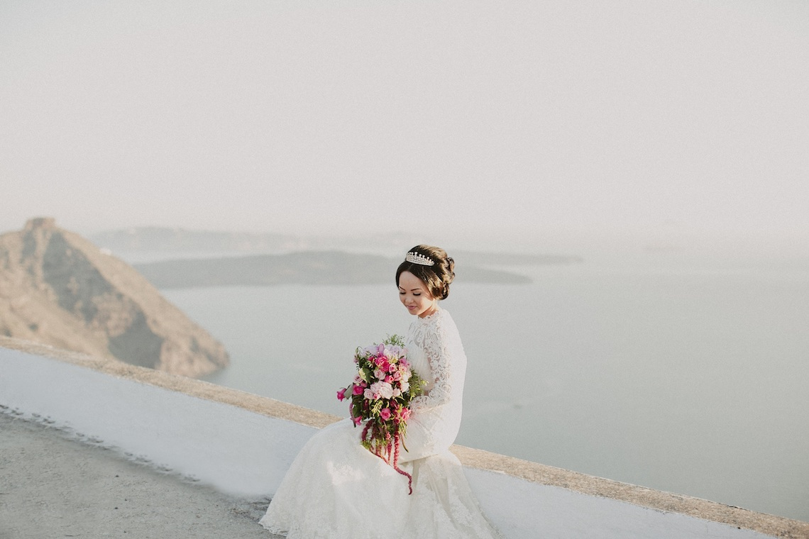 Intimate & Luxurious Cliffside Santorini Wedding | Stella and Moscha | Nikos Gogas 50