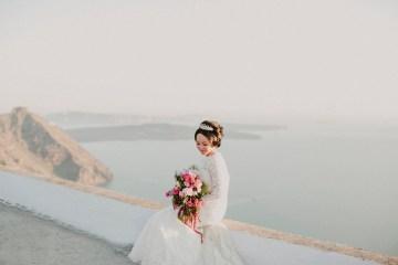 Intimate & Luxurious Cliffside Santorini Wedding   Stella and Moscha   Nikos Gogas 50