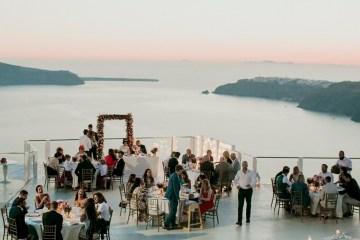 Intimate & Luxurious Cliffside Santorini Wedding   Stella and Moscha   Nikos Gogas 57