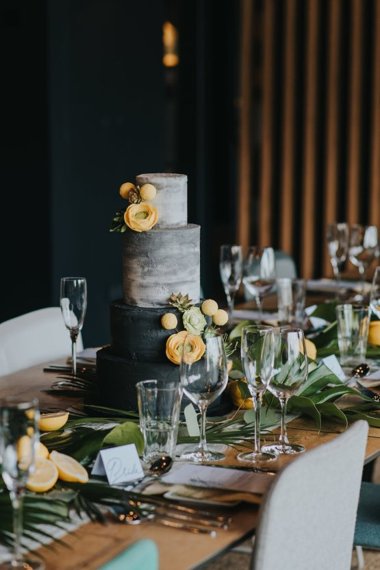 Modern Industrial London Wedding Inspiration With Succulents   Remain in the Light Photography 20