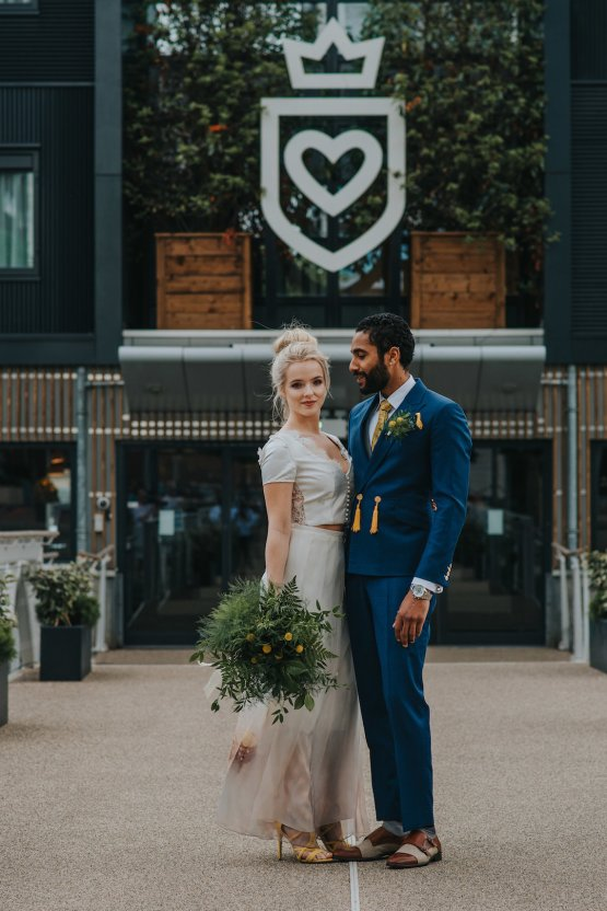 Modern Industrial London Wedding Inspiration With Succulents   Remain in the Light Photography 22