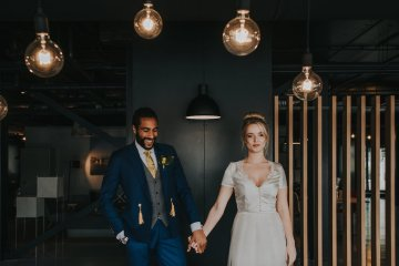 Modern Industrial London Wedding Inspiration With Succulents | Remain in the Light Photography 39