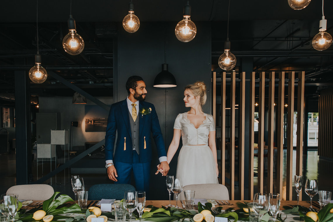Modern Industrial London Wedding Inspiration With Succulents   Remain in the Light Photography 40