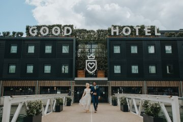 Modern Industrial London Wedding Inspiration With Succulents | Remain in the Light Photography 46