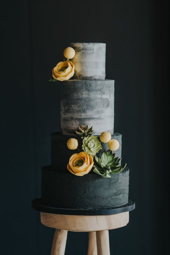 Modern Industrial London Wedding Inspiration With Succulents   Remain in the Light Photography 5