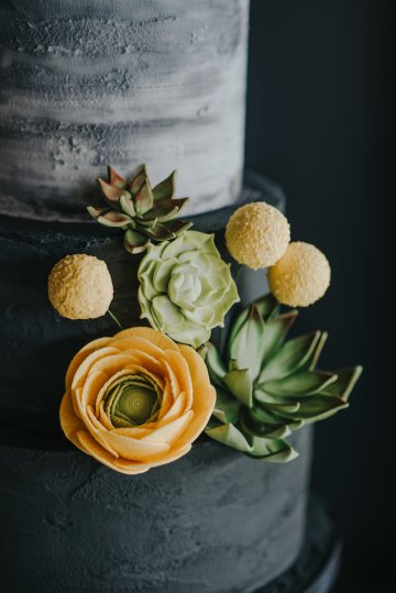 Modern Industrial London Wedding Inspiration With Succulents | Remain in the Light Photography 6