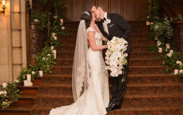 A Practically Royal Luxe Chicago Cathedral Wedding