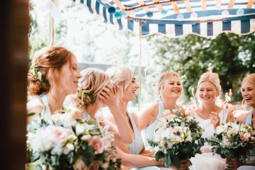 Totally Chic English Wedding With A Sweet Boat Ride   Oak & Blossom 32