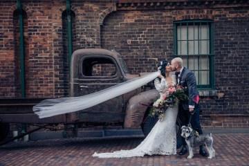 Edgy & Romantic Distillery Wedding | AGI Studio 7
