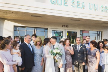 Modern Hip Taco Wedding In A Funky Gallery Venue | Claire Eliza 25