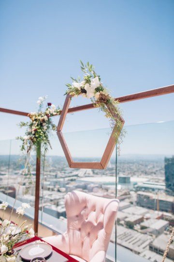Modern Japanese Inspired Rooftop Wedding Inspiration (With Sushi & Uni, Yum!) | CCL Events | Christine Farah Photography 12