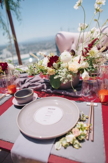 Modern Japanese Inspired Rooftop Wedding Inspiration (With Sushi & Uni, Yum!) | CCL Events | Christine Farah Photography 14