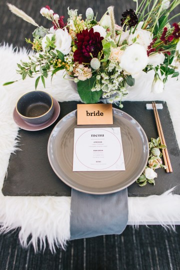 Modern Japanese Inspired Rooftop Wedding Inspiration (With Sushi & Uni, Yum!) | CCL Events | Christine Farah Photography 25