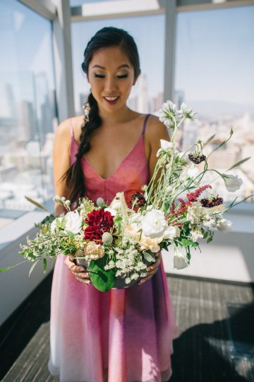 Modern Japanese Inspired Rooftop Wedding Inspiration (With Sushi & Uni, Yum!) | CCL Events | Christine Farah Photography 31