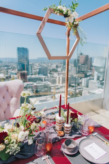Modern Japanese Inspired Rooftop Wedding Inspiration (With Sushi & Uni, Yum!) | CCL Events | Christine Farah Photography 34