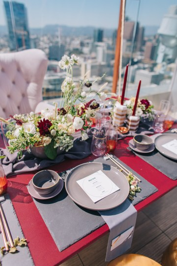 Modern Japanese Inspired Rooftop Wedding Inspiration (With Sushi & Uni, Yum!) | CCL Events | Christine Farah Photography 38