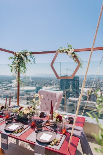 Modern Japanese Inspired Rooftop Wedding Inspiration (With Sushi & Uni, Yum!) | CCL Events | Christine Farah Photography 39