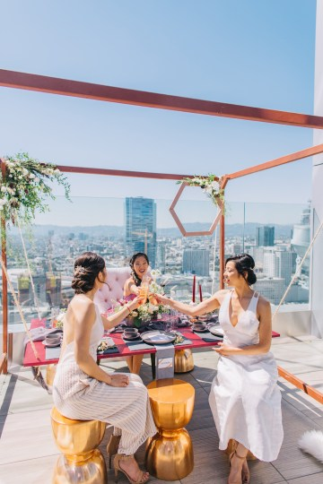 Modern Japanese Inspired Rooftop Wedding Inspiration (With Sushi & Uni, Yum!) | CCL Events | Christine Farah Photography 41