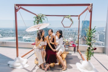 Modern Japanese Inspired Rooftop Wedding Inspiration (With Sushi & Uni, Yum!) | CCL Events | Christine Farah Photography 51
