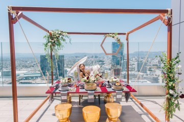 Modern Japanese Inspired Rooftop Wedding Inspiration (With Sushi & Uni, Yum!) | CCL Events | Christine Farah Photography 52