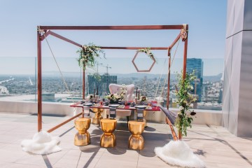 Modern Japanese Inspired Rooftop Wedding Inspiration (With Sushi & Uni, Yum!) | CCL Events | Christine Farah Photography 55