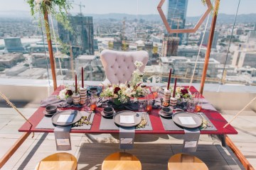 Modern Japanese Inspired Rooftop Wedding Inspiration (With Sushi & Uni, Yum!) | CCL Events | Christine Farah Photography 56