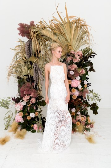 Modern Silk Gowns & Floral Wall Inspiration For The Hip Bride | Anastasia Fua elliftheartist 41